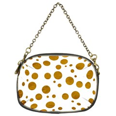 Tan Polka Dots Chain Purse (Two Sided)
