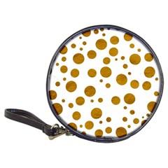 Tan Polka Dots CD Wallet