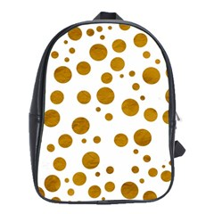 Tan Polka Dots School Bag (Large)