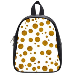 Tan Polka Dots School Bag (Small)
