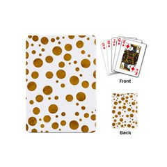 Tan Polka Dots Playing Cards (mini)
