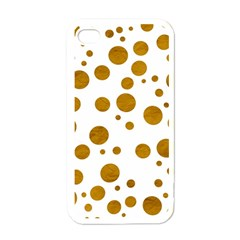 Tan Polka Dots Apple iPhone 4 Case (White)