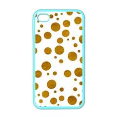 Tan Polka Dots Apple Iphone 4 Case (color)