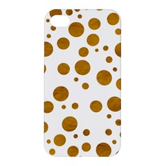 Tan Polka Dots Apple Iphone 4/4s Hardshell Case