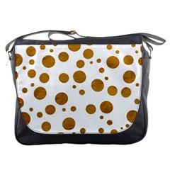 Tan Polka Dots Messenger Bag