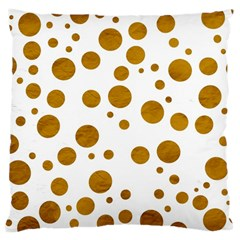 Tan Polka Dots Large Cushion Case (two Sided)