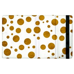Tan Polka Dots Apple Ipad 2 Flip Case