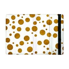 Tan Polka Dots Apple iPad Mini Flip Case