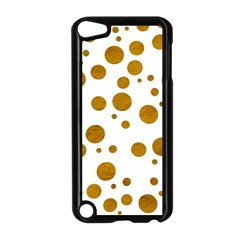 Tan Polka Dots Apple iPod Touch 5 Case (Black)