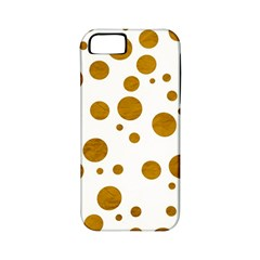 Tan Polka Dots Apple iPhone 5 Classic Hardshell Case (PC+Silicone)
