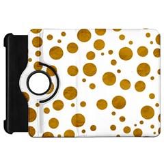 Tan Polka Dots Kindle Fire HD 7  (1st Gen) Flip 360 Case
