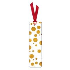 Tan Polka Dots Small Bookmark