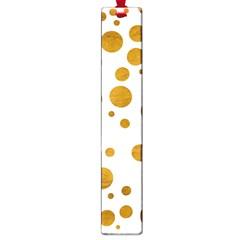 Tan Polka Dots Large Bookmark