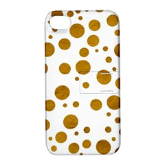 Tan Polka Dots Apple iPhone 4/4S Hardshell Case with Stand