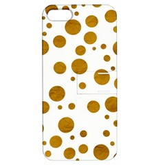 Tan Polka Dots Apple iPhone 5 Hardshell Case with Stand