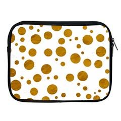 Tan Polka Dots Apple iPad Zippered Sleeve
