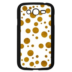 Tan Polka Dots Samsung Galaxy Grand DUOS I9082 Case (Black)