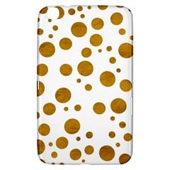 Tan Polka Dots Samsung Galaxy Tab 3 (8 ) T3100 Hardshell Case