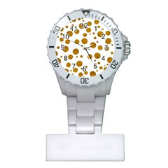 Tan Polka Dots Nurses Watch