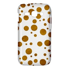 Tan Polka Dots Samsung Galaxy Ace 3 S7272 Hardshell Case
