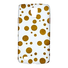 Tan Polka Dots Samsung Galaxy S4 Active (i9295) Hardshell Case