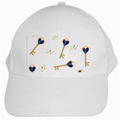 21st Birthday Keys Background White Baseball Cap