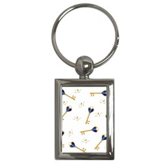 21st Birthday Keys Background Key Chain (rectangle)