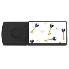 21st Birthday Keys Background 1GB USB Flash Drive (Rectangle)