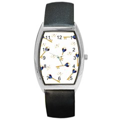 21st Birthday Keys Background Tonneau Leather Watch