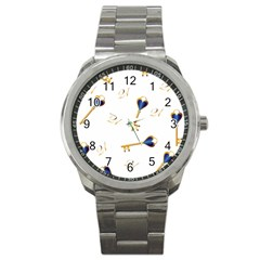 21st Birthday Keys Background Sport Metal Watch