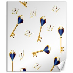 21st Birthday Keys Background Canvas 20  x 24  (Unframed)