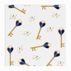 21st Birthday Keys Background Glasses Cloth (Medium)