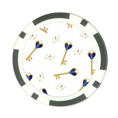 21st Birthday Keys Background Poker Chip