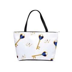 21st Birthday Keys Background Large Shoulder Bag