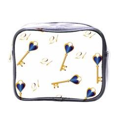 21st Birthday Keys Background Mini Travel Toiletry Bag (One Side)