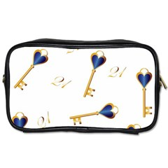 21st Birthday Keys Background Travel Toiletry Bag (Two Sides)