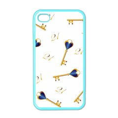 21st Birthday Keys Background Apple iPhone 4 Case (Color)
