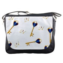 21st Birthday Keys Background Messenger Bag