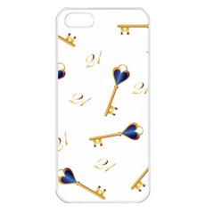 21st Birthday Keys Background Apple iPhone 5 Seamless Case (White)
