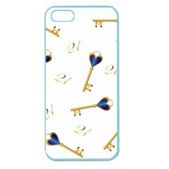 21st Birthday Keys Background Apple Seamless Iphone 5 Case (color)