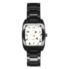 21st Birthday Keys Background Stainless Steel Barrel Watch