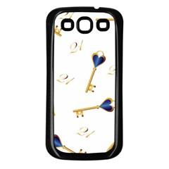21st Birthday Keys Background Samsung Galaxy S3 Back Case (Black)