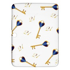 21st Birthday Keys Background Samsung Galaxy Tab 3 (10.1 ) P5200 Hardshell Case