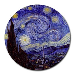Vincent Van Gogh Starry Night 8  Mouse Pad (round)