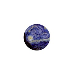 Vincent Van Gogh Starry Night 1  Mini Button Magnet