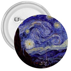 Vincent Van Gogh Starry Night 3  Button