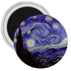 Vincent Van Gogh Starry Night 3  Button Magnet