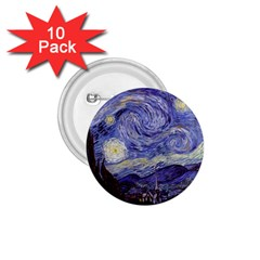 Vincent Van Gogh Starry Night 1.75  Button (10 pack)