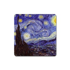 Vincent Van Gogh Starry Night Magnet (Square)