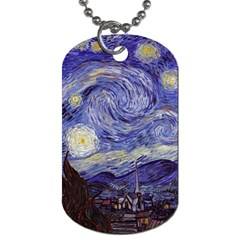 Vincent Van Gogh Starry Night Dog Tag (One Sided)